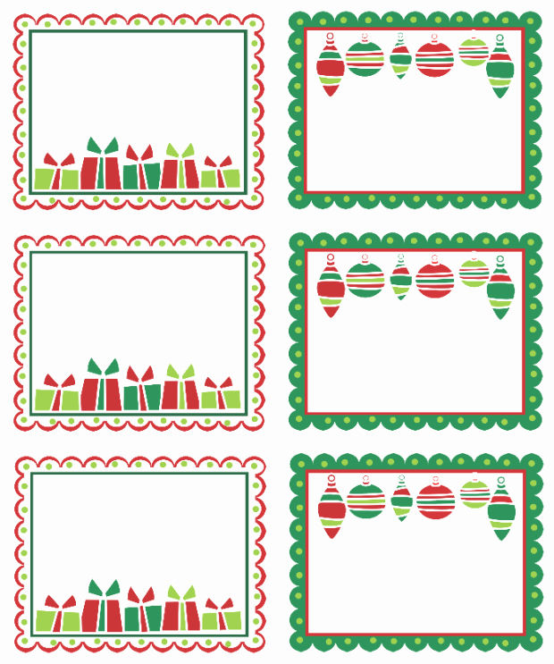 Christmas Tag Templates Microsoft Word New Christmas Labels Ready to Print