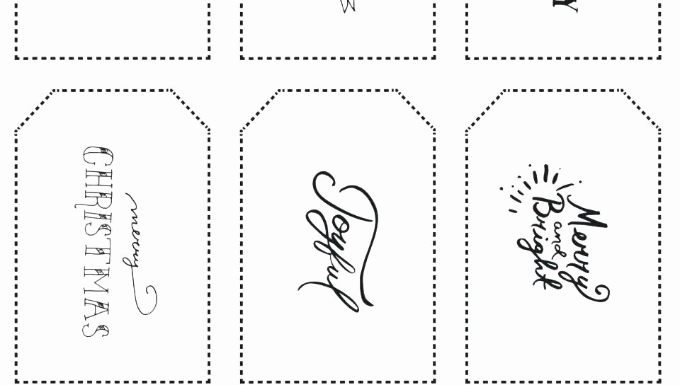 Christmas Tag Templates Microsoft Word New Printable Gift Tags Template Word for In – Ecosolidario