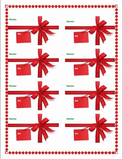 Christmas Tag Templates Microsoft Word Unique Microsoft Word T Tag Template Christmas T Tag