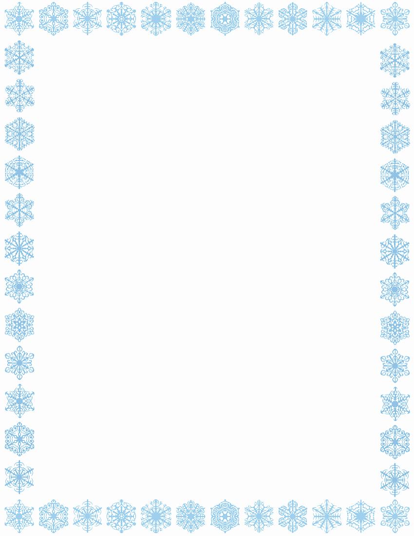 Christmas themed Borders for Word Awesome Snowflake Border Page Page Frames Holiday Christmas
