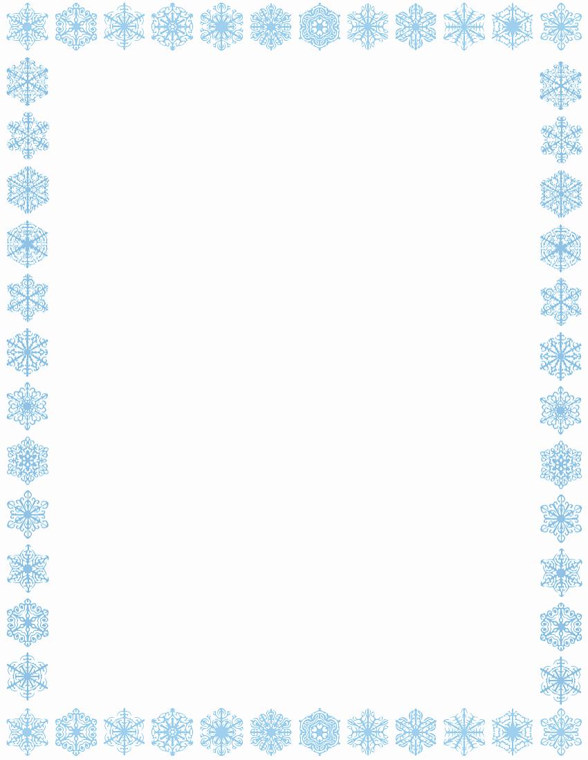 Christmas themed Borders for Word Awesome Snowflake Border Page Page Frames Holiday Christmas