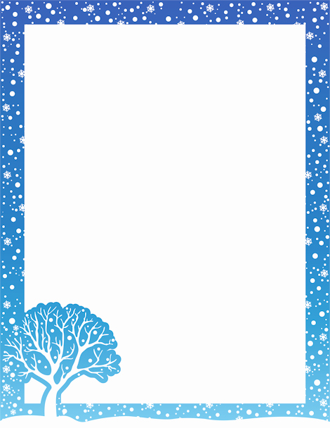 Christmas themed Borders for Word Beautiful Printable Winter Border Free Gif Jpg Pdf and Png
