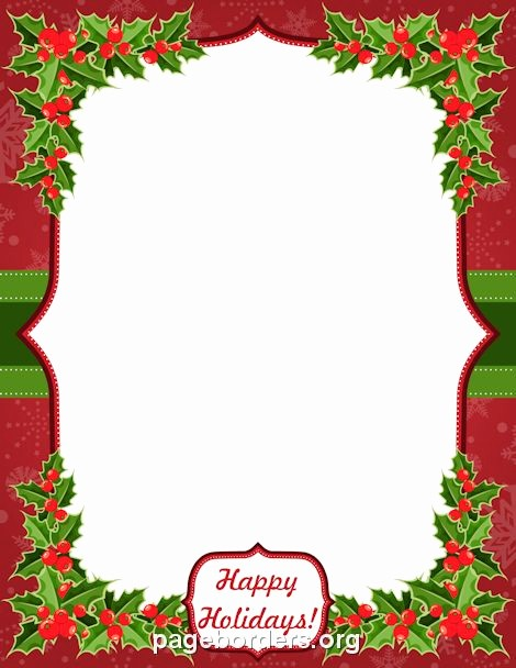 "Christmas themed Borders for Word Best Of Printable ""happy Holidays"" Border Use the Border In"