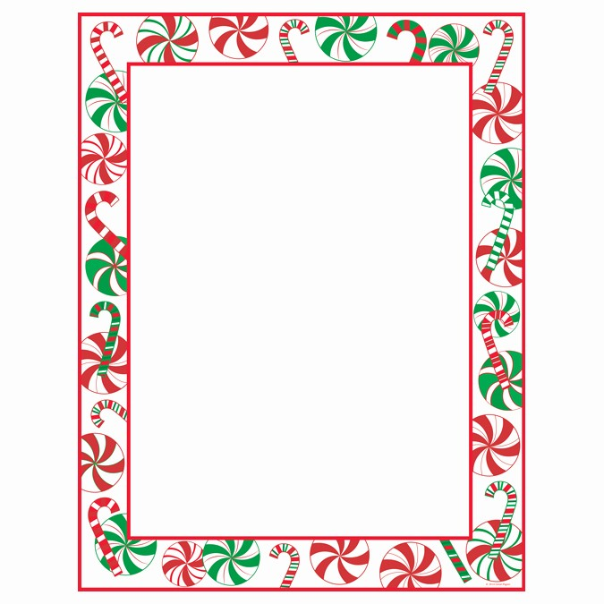 Christmas themed Borders for Word Elegant Peppermint Party Christmas Border Holiday Paper Your