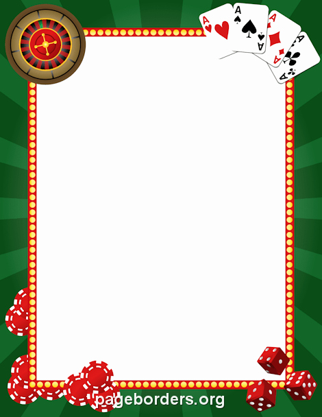 Christmas themed Borders for Word Luxury Casino Border Clip Art Page Border and Vector Graphics
