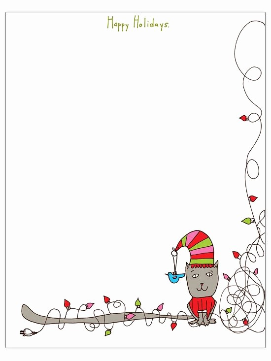 Christmas themed Borders for Word Luxury Free Christmas Letter Templates