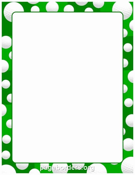 Christmas themed Borders for Word Luxury Printable Golf Ball Border Use the Border In Microsoft