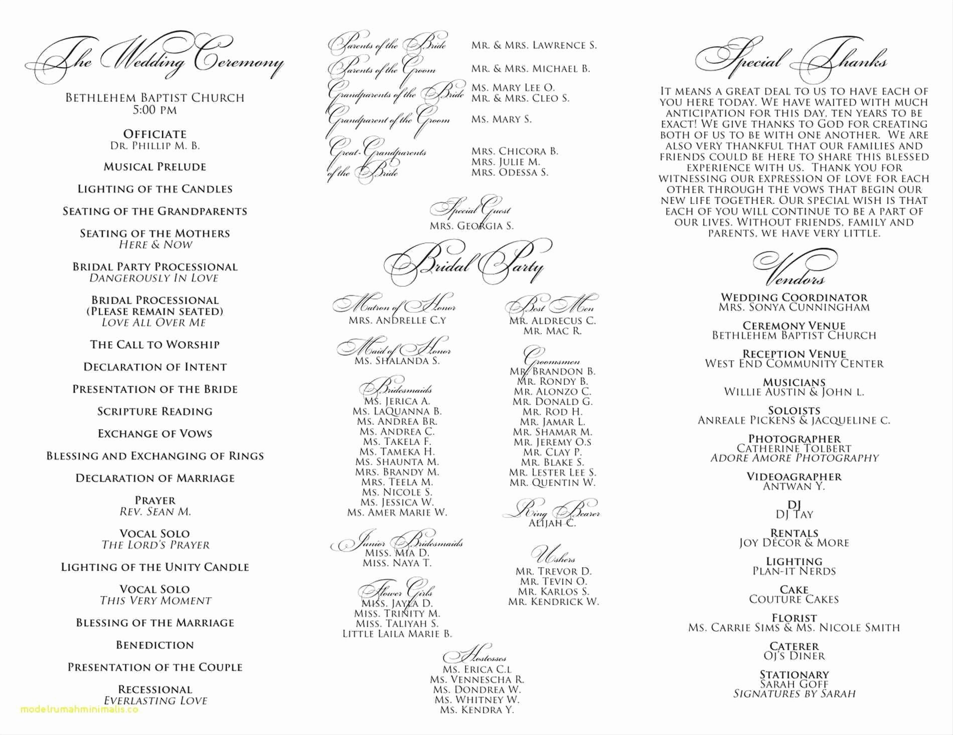 Church order Of Service Template Best Of Awesome Baptist Church order Service Template