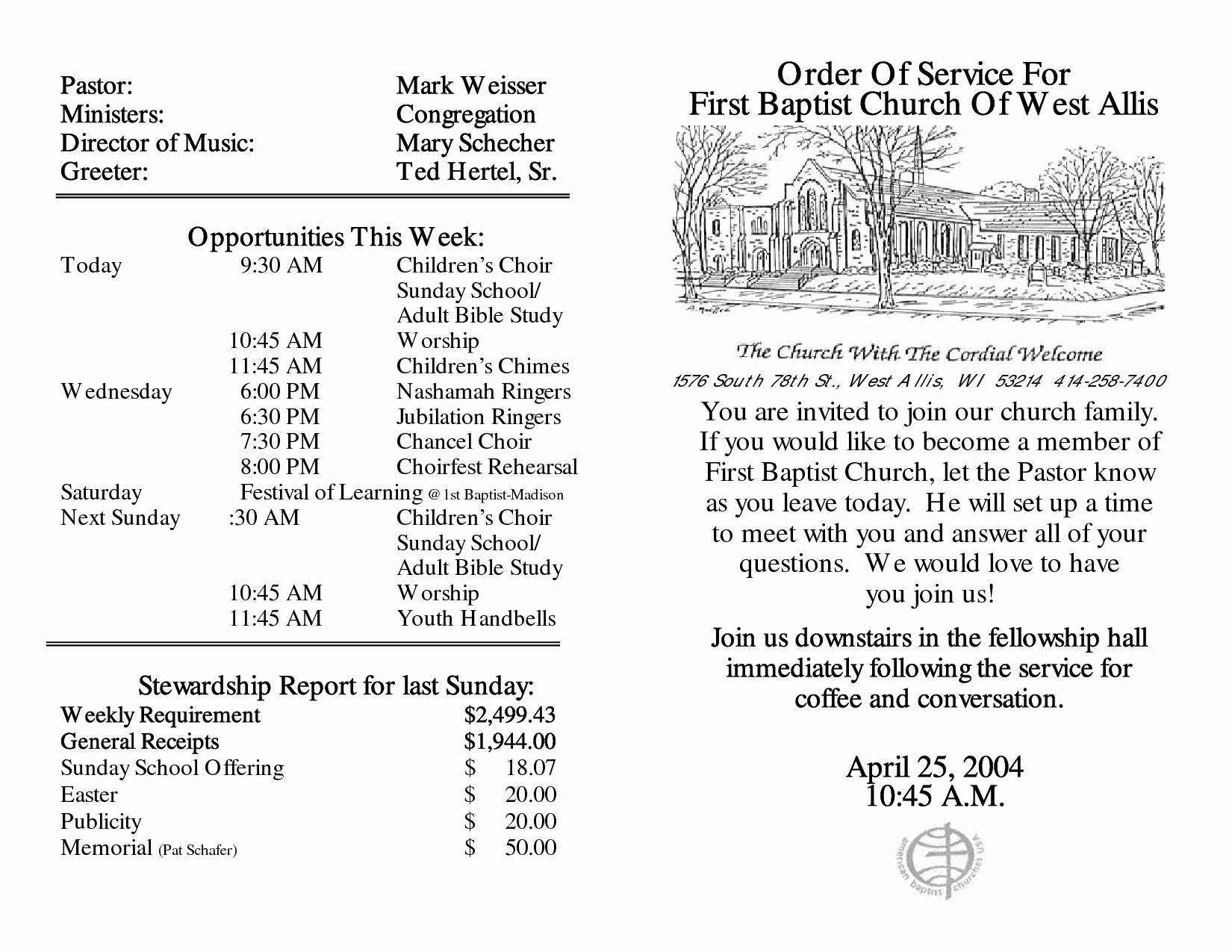 Church order Of Service Template Lovely Best S Of Sample Church Programs order Service