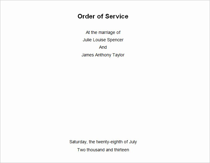 Church order Of Service Template New Church order Of Service Joselinohouse