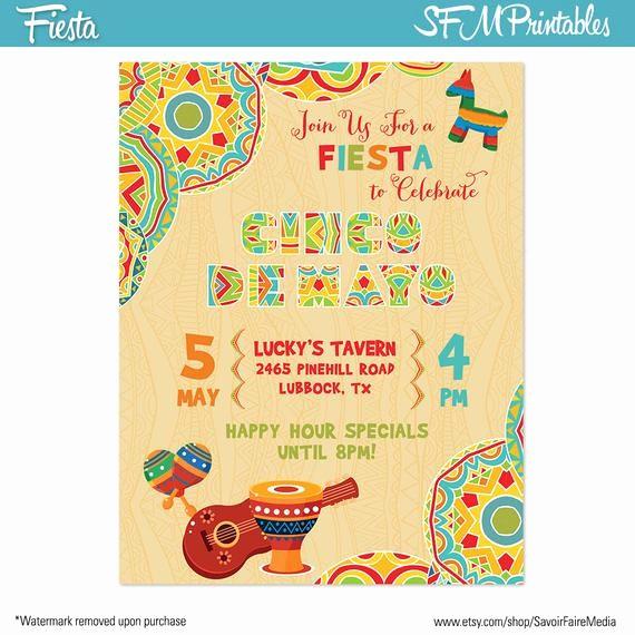 Cinco De Mayo Invite Template Awesome Cinco De Mayo Fiesta Flyer Invitation Poster by