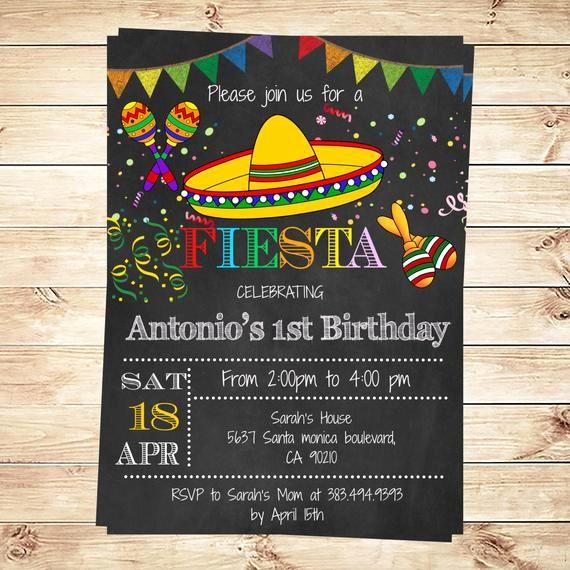 Cinco De Mayo Invite Template Beautiful Birthday Mexican Fiesta Party Invitations Printable
