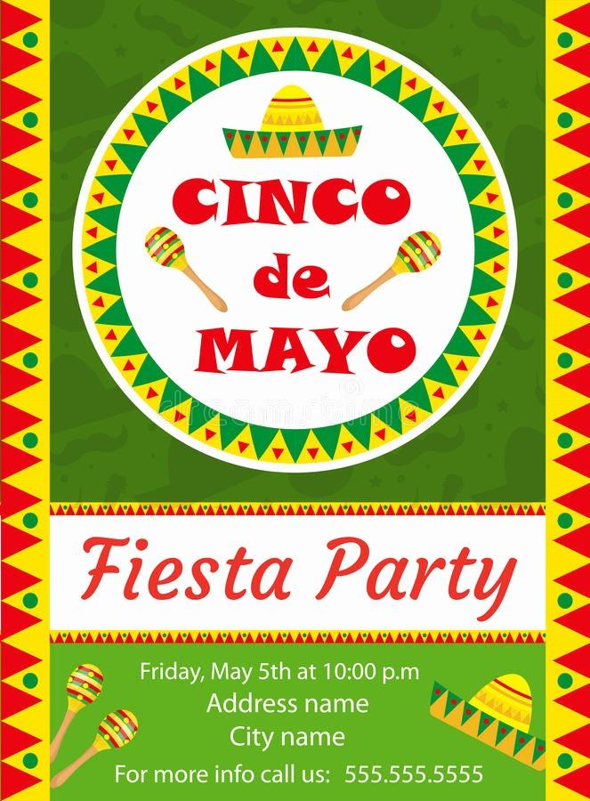Cinco De Mayo Invite Template Beautiful Cinco De Mayo Invitation Template Flyer Mexican Holiday
