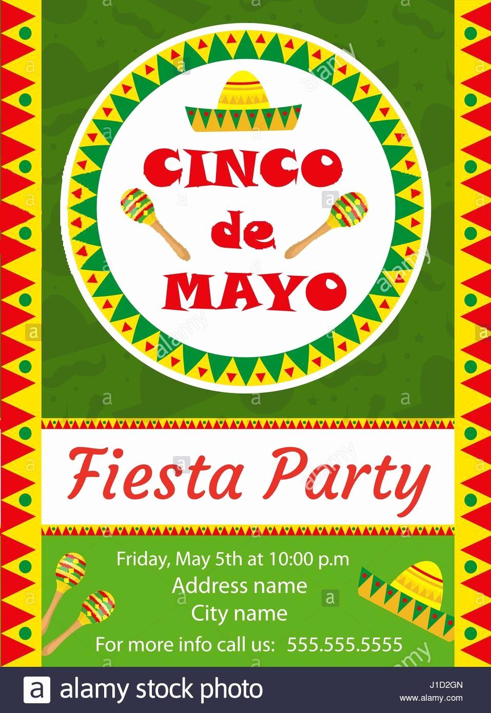 Cinco De Mayo Invite Template Best Of Cinco De Mayo Invitation Template Flyer Mexican Holiday