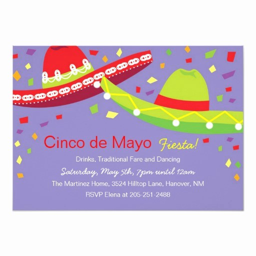 Cinco De Mayo Invite Template Best Of Cinco De Mayo sombrero Fiesta Invitations
