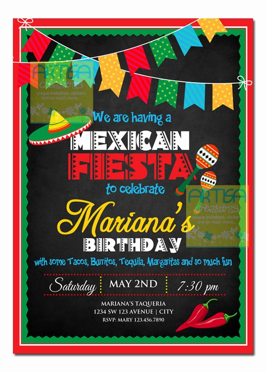 Cinco De Mayo Invite Template Best Of Mexican Fiesta Invitation Cinco De Mayo Invitation