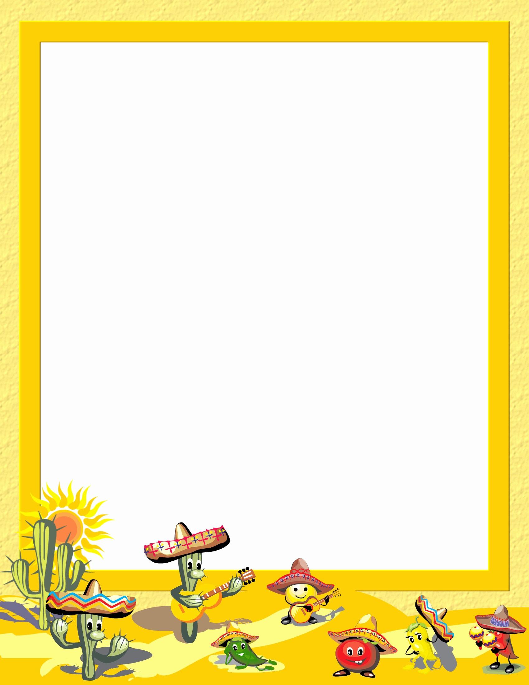 Cinco De Mayo Invite Template Elegant Free Cinco De Mayo Stationery Downloads