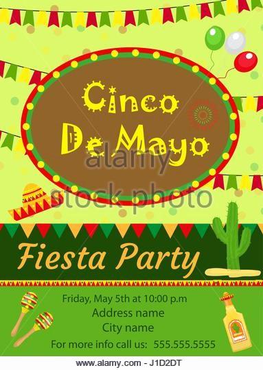 Cinco De Mayo Invite Template Elegant Mexican Poster Stock S & Mexican Poster Stock