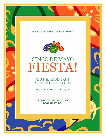 Cinco De Mayo Invite Template Fresh 1000 Images About event Flyer Templates On Pinterest