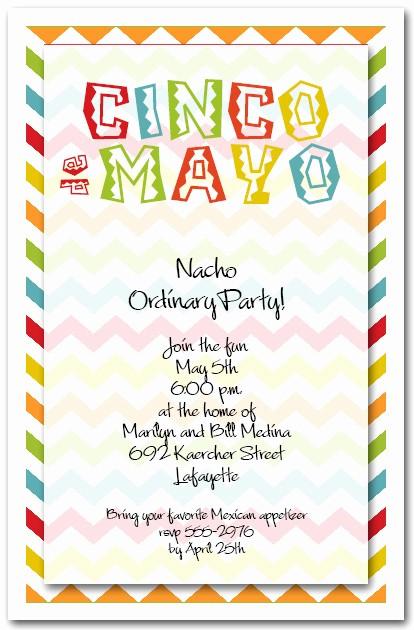 Cinco De Mayo Invite Template Fresh Cinco De Mayo Chevron Party Invitations