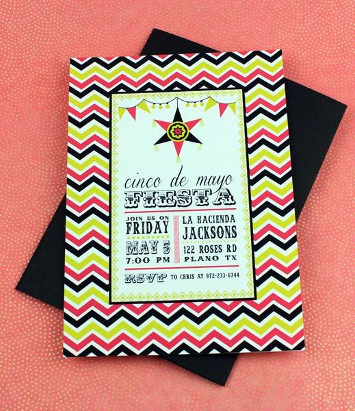 pinata fiesta invitation
