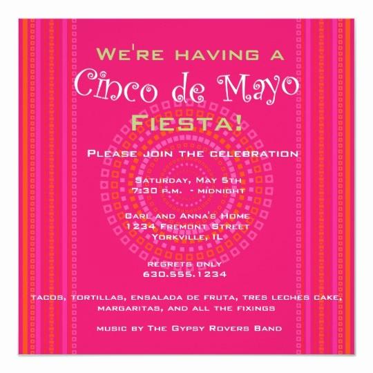 Cinco De Mayo Invite Template Inspirational Cinco De Mayo Fiesta Invitation