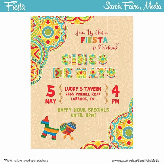 Cinco De Mayo Invite Template Luxury Cinco De Mayo Fiesta Flyer Invitation Poster Template