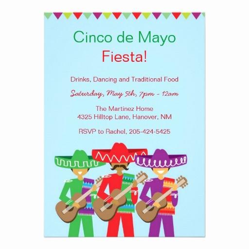 Cinco De Mayo Invite Template Luxury Cinco De Mayo Fiesta Invitations