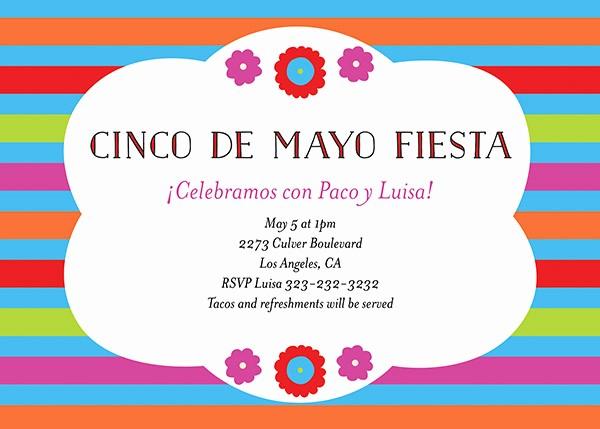 Cinco De Mayo Invite Template Luxury Cinco De Mayo Invitations