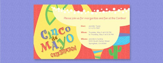 Cinco De Mayo Invite Template Luxury Invitations Free Ecards and Party Planning Ideas From Evite