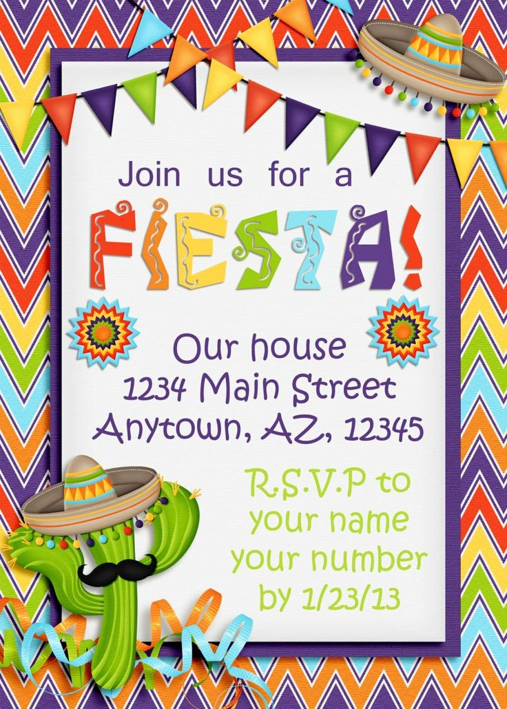 Cinco De Mayo Invite Template New 17 Best Images About Fiesta On Pinterest