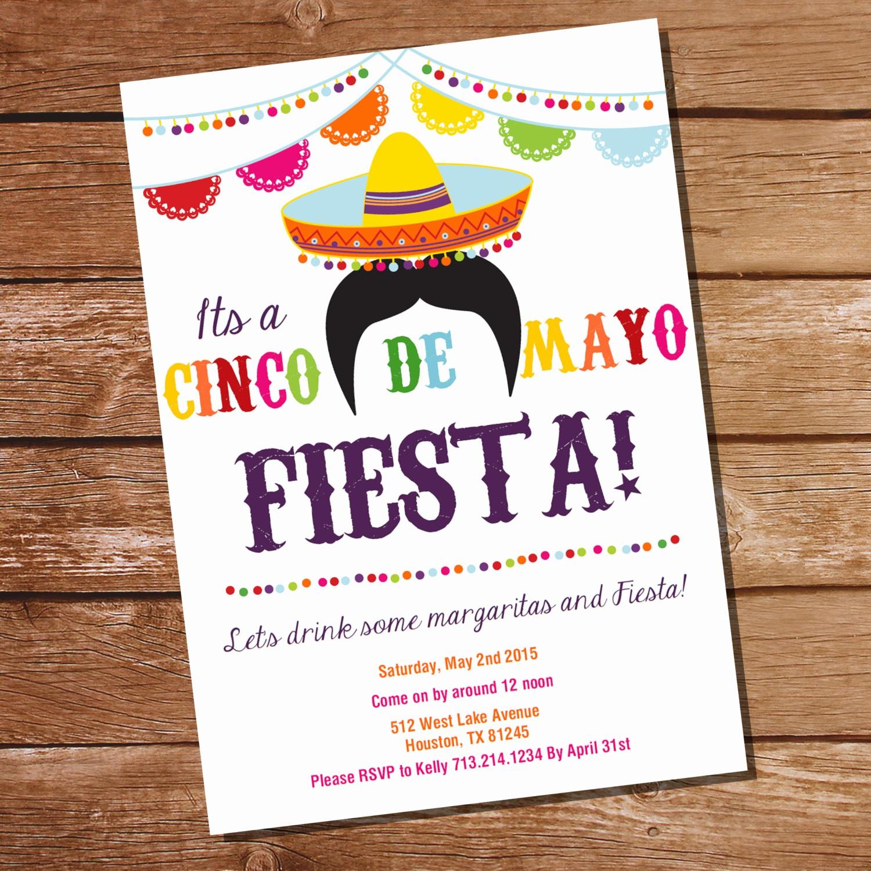 Cinco De Mayo Invite Template New Cinco De Mayo Fiesta Invitation Mexican Fiesta Invitation