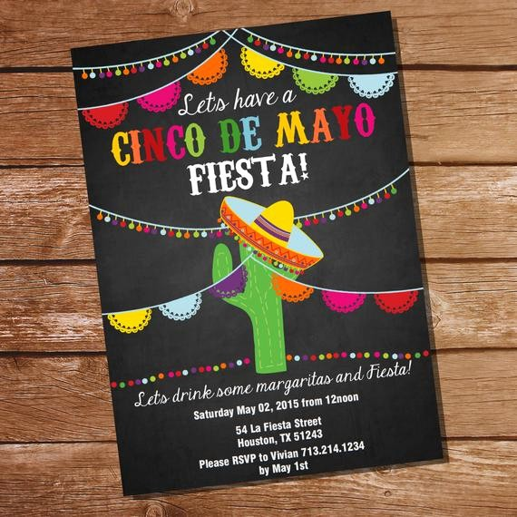 Cinco De Mayo Invite Template New Cinco De Mayo Fiesta Invitation Mexican Fiesta