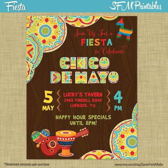 Cinco De Mayo Invite Template Unique Cinco De Mayo Fiesta Flyer Invitation Poster by