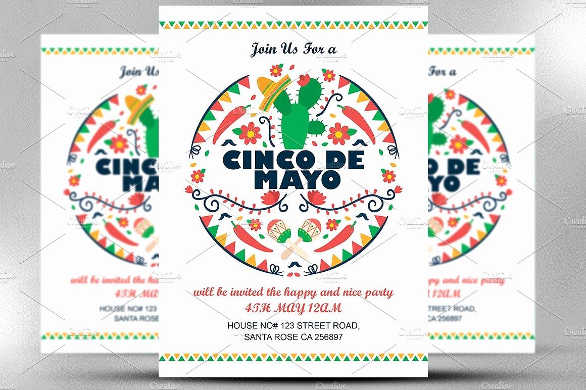 Cinco De Mayo Invite Template Unique Cinco De Mayo Invitation Invitation Templates Creative