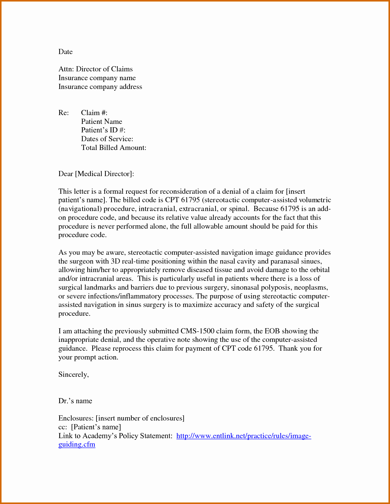 Claim Denial Letter Sample Airline Beautiful 13 Appeal Letter for Insurance Claim Denial