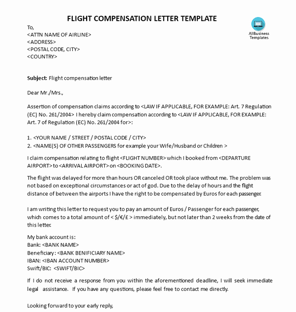 Claim Denial Letter Sample Airline Best Of How to Pensation for Delayed Flight According to