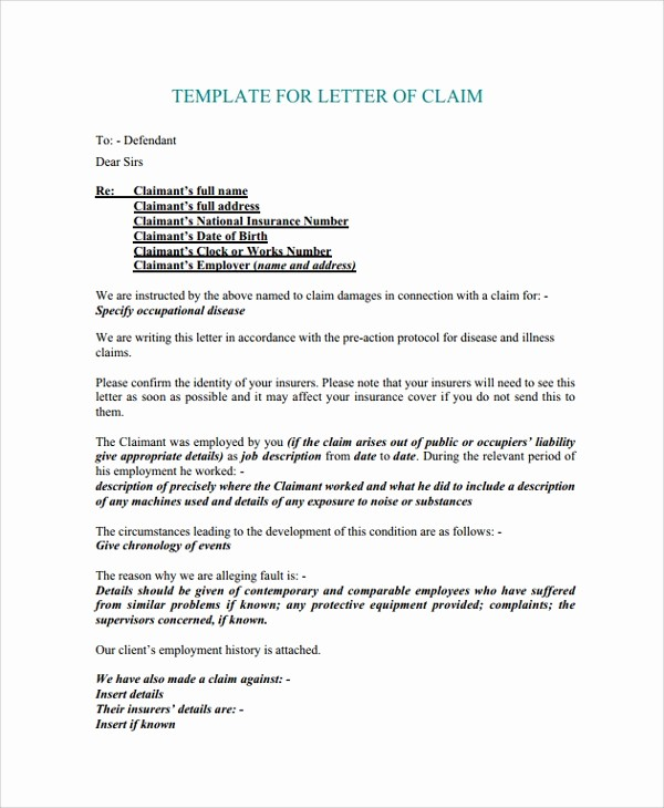 Claim Denial Letter Sample Airline Elegant 10 Sample Claims Letters – Pdf Word Apple Pages