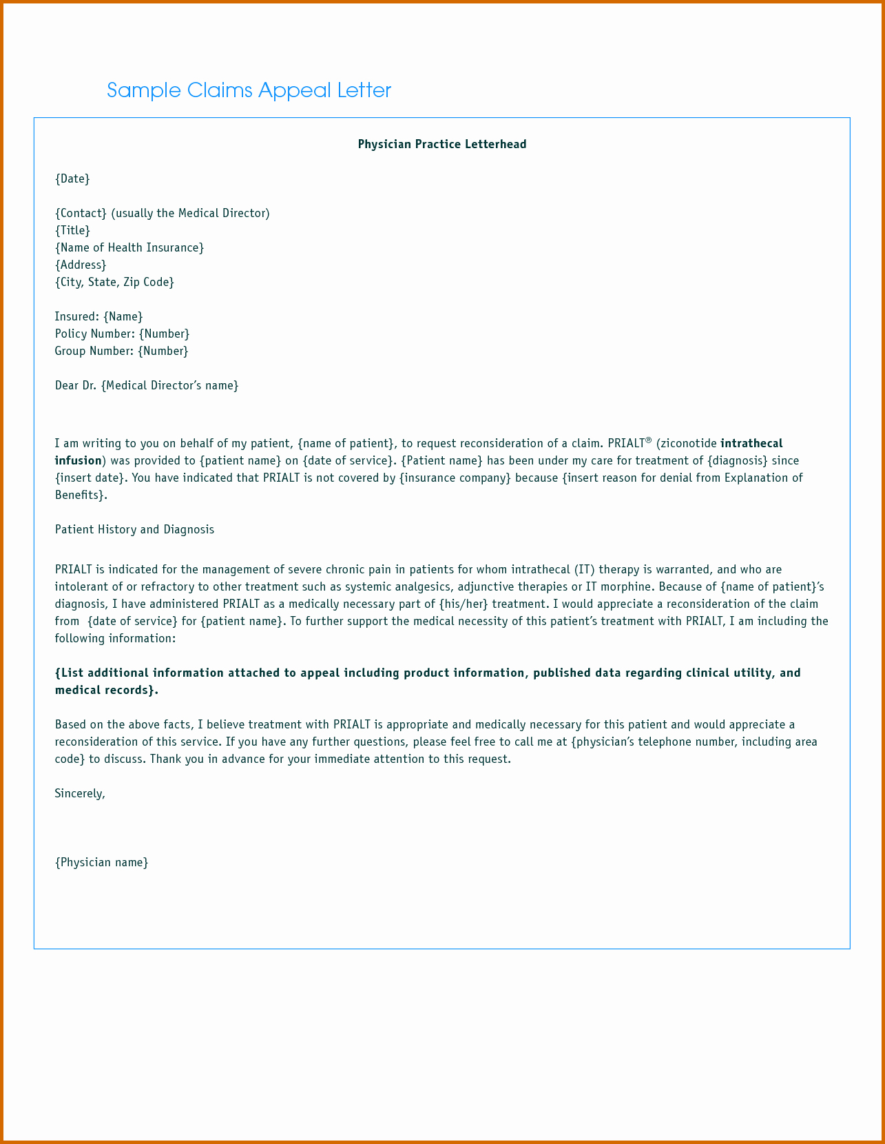 Claim Denial Letter Sample Airline Lovely 13 Appeal Letter for Insurance Claim Denial