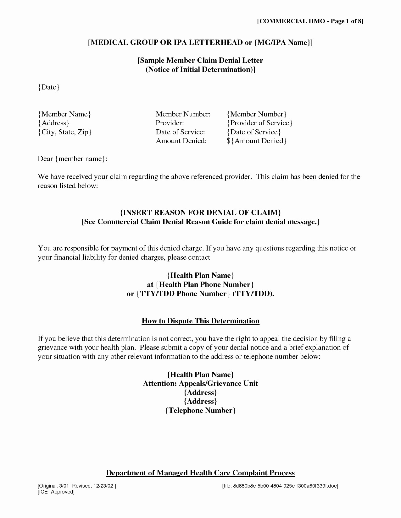 Claim Denial Letter Sample Airline Lovely Claim Denial Letter Template Examples