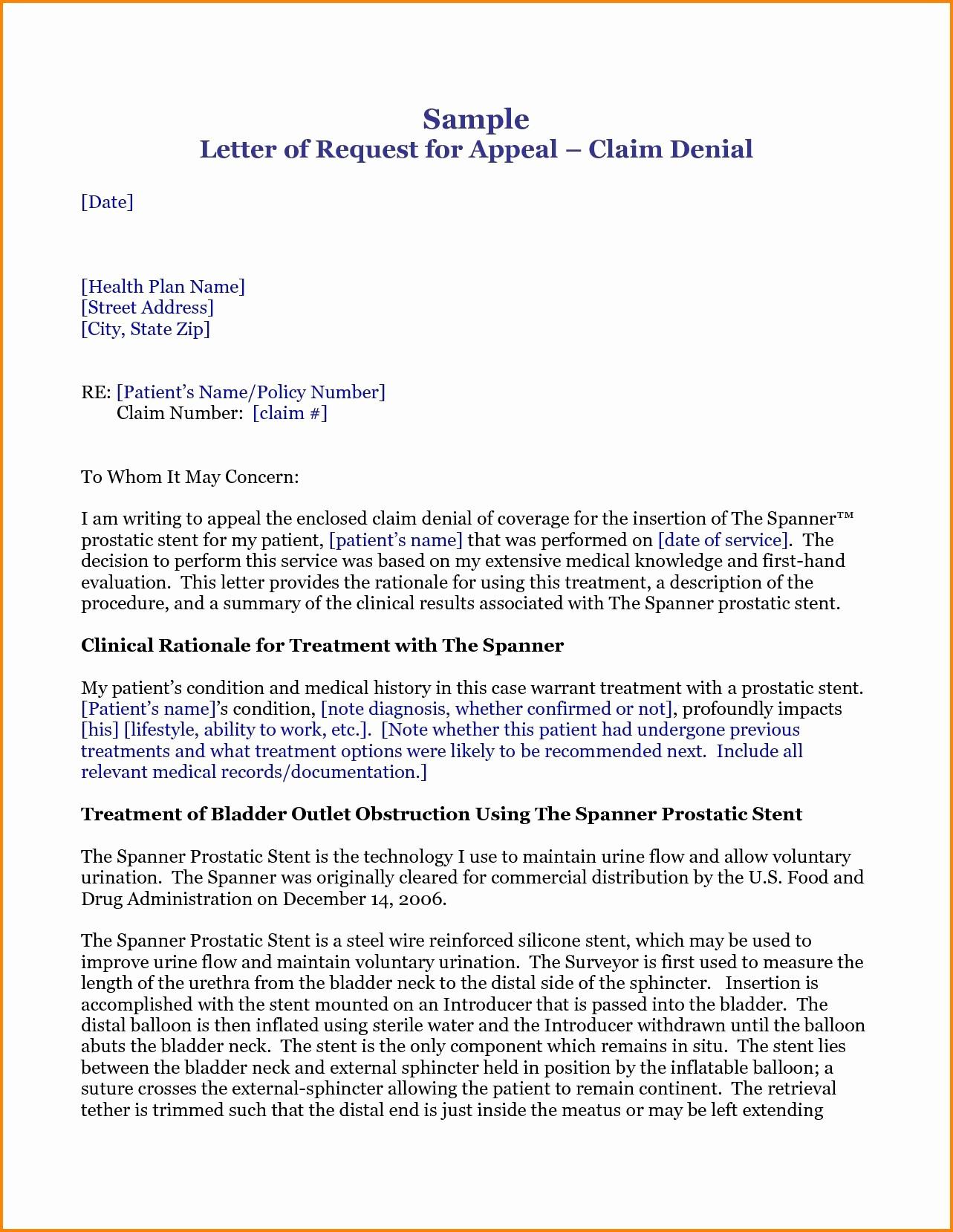 Claim Denial Letter Sample Airline Unique Insurance Claim Rejection Letter format Valid Claim Denial