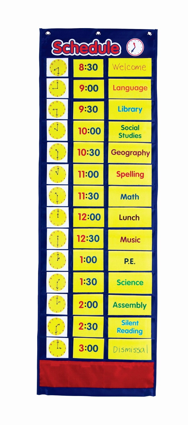 Class Schedule Maker for Teachers Awesome Pocket Chart School Specialty Marketplace