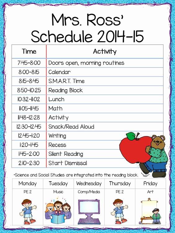 Class Schedule Maker for Teachers Beautiful Class Schedule Freebie the Teacher S Cauldron