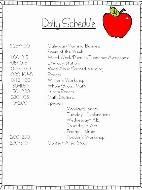 Class Schedule Maker for Teachers Best Of Mrs Wills Kindergarten Schedule Can I Tweak It and Make