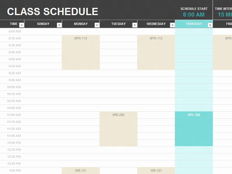 Class Schedule Maker for Teachers Best Of Usual American High School Timetable High School