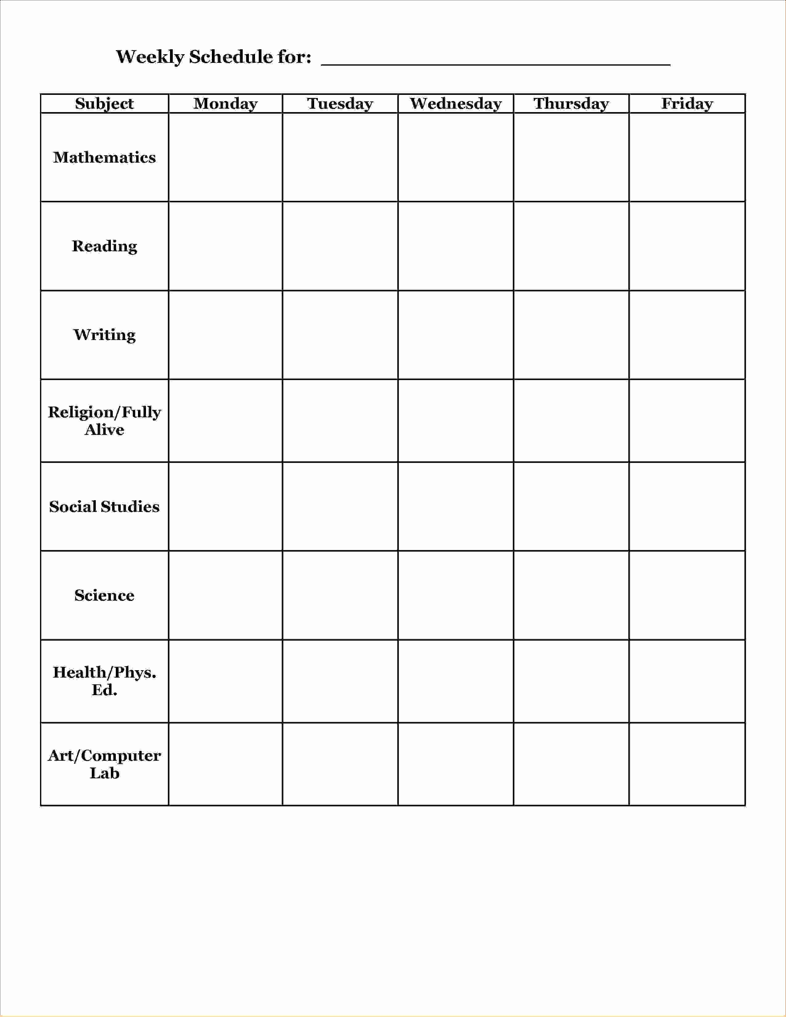 Class Schedule Maker for Teachers Elegant 12 School Agenda Templateagenda Template Sample
