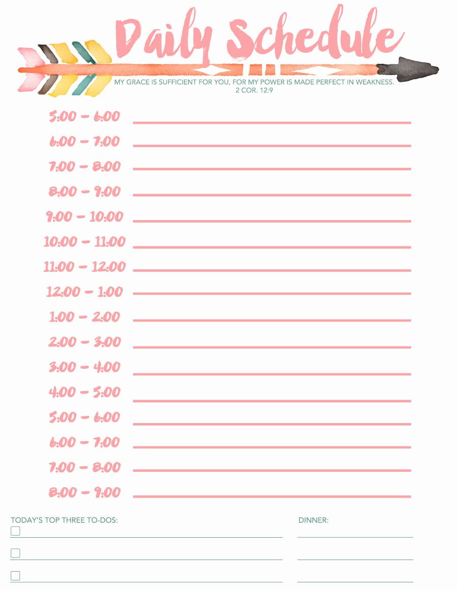 Class Schedule Maker for Teachers Fresh Daily Schedule Free Printable