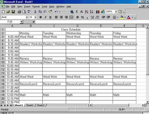 Class Schedule Maker for Teachers Inspirational Creating A Class Schedule Using Excel