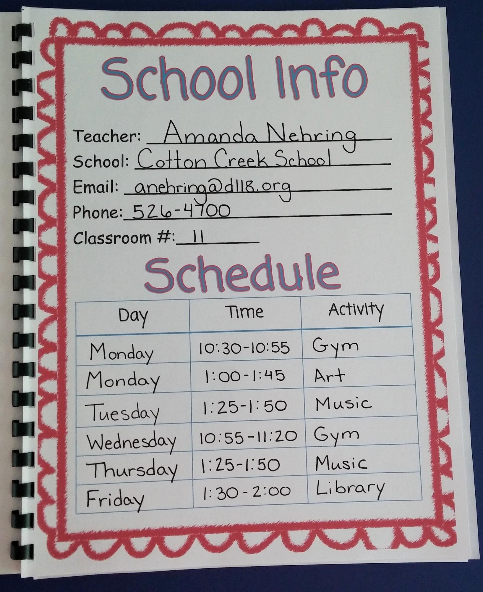 Class Schedule Maker for Teachers Inspirational Cute Class Schedule Maker Evolist