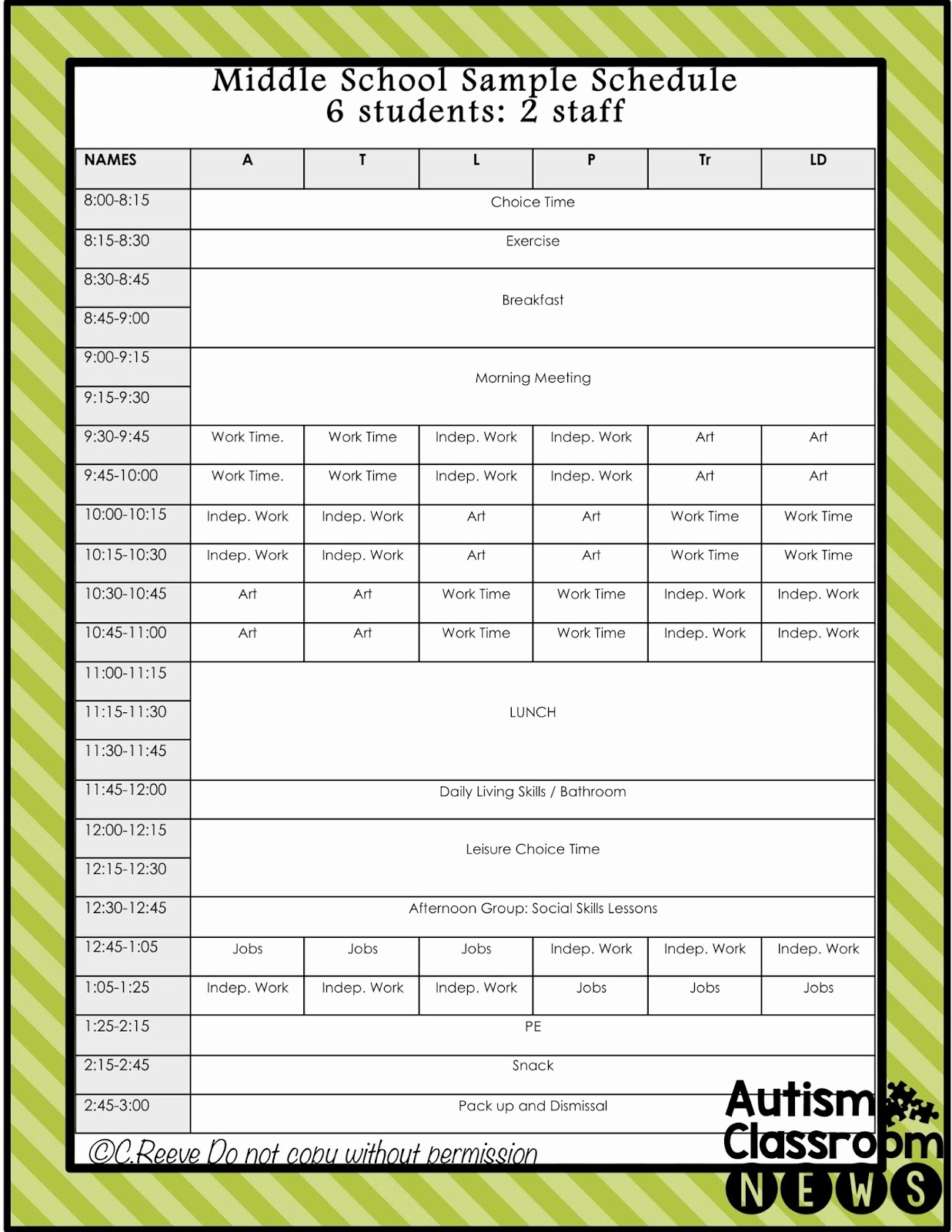 50 class schedule maker for teachers
